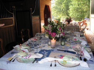 The Hemingway July birthday party in my barn
