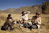 Hem, Martha, and boys on Safari
