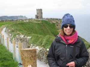 Me at the Cliffs of Moher! Freezing in June!