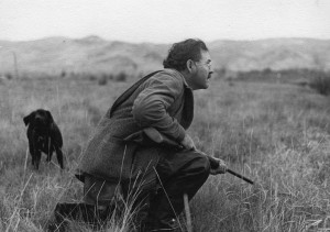 EH4639P October, 1941 Ernest Hemingway duck hunting in Idaho, October 1941. Photographer unknown in the John F. Kennedy Presidential Library and Museum, Boston.