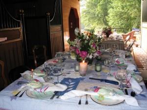The Hemingway July birthday party in my barn