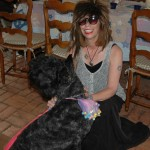 Me as Stevie Nicks at summer party with my puppy