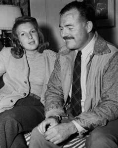 Ernest Hemingway and Martha Gellhorn in Sun Valley, Idaho, 1940. Photographer unknown in the John F. Kennedy Presidential Library and Museum, Boston.