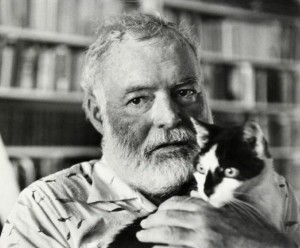 ErnestHemingway and cat